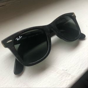 "Black ""Distressed"" Raybans"